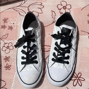 White quilted converse
